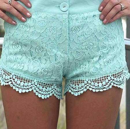 shorts de renda