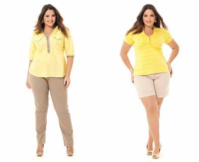 modelos de roupas da moda plus size