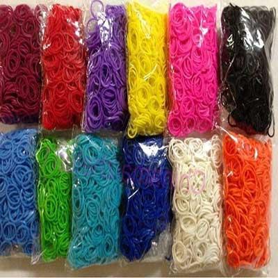 pulseiras de elásticos coloridas