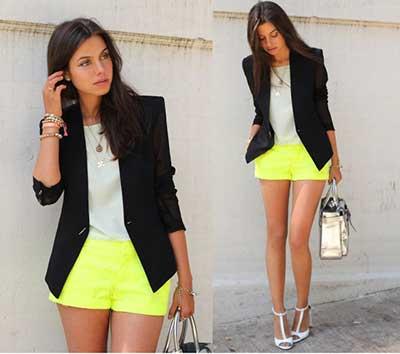 shorts sociais da moda