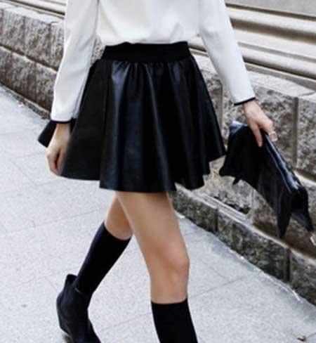 fotos de como usar saias rodadas