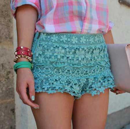 fotos de shorts de renda