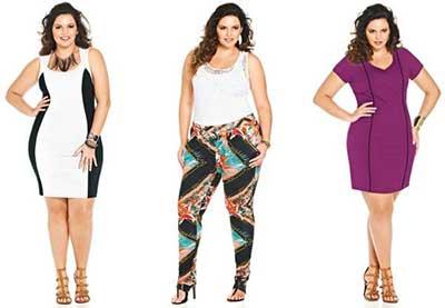 fotos de roupas da moda plus size