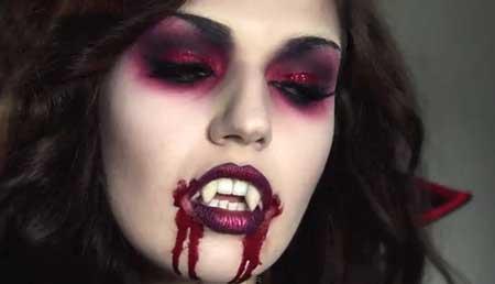 maquiagem feminina de vampira