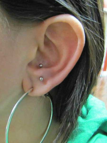 modelos de piercing na orelha