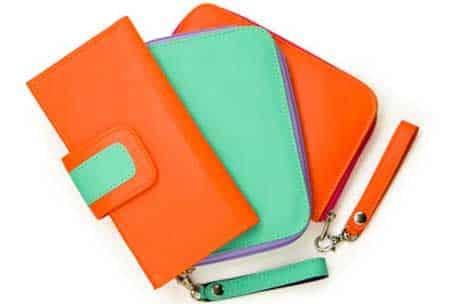 carteiras coloridas