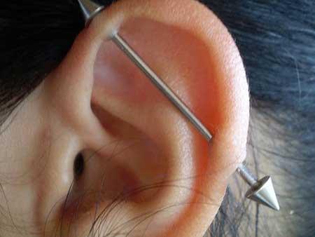 imagens de piercings na orelha