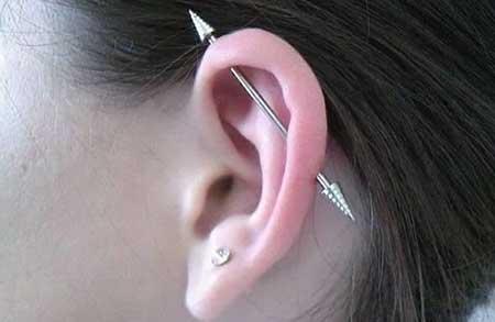 tipos de piercings na orelha