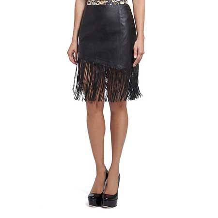 modelo de saia de couro