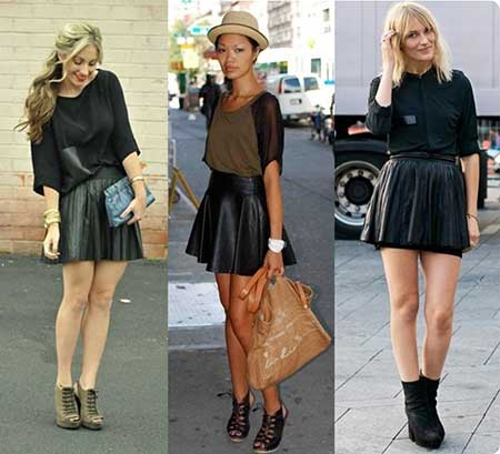 como usar saia preta