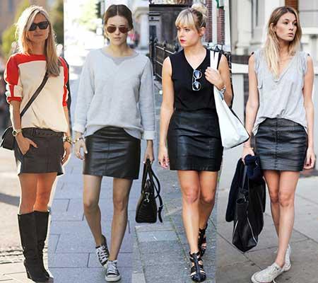 modelos de saia preta