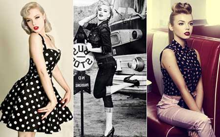 fotos da moda anos 50