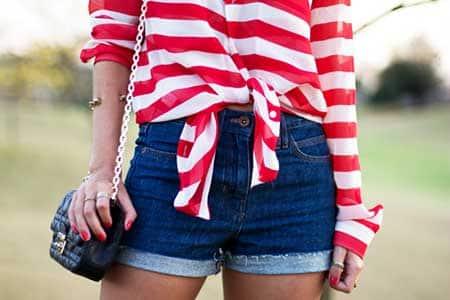 shorts da cintura alta da moda feminina