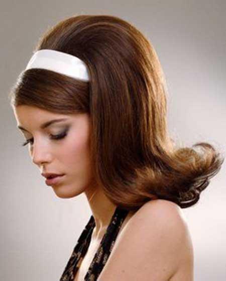 ретро прически с челкой на средние волосы