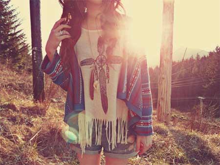 look feminino hippie