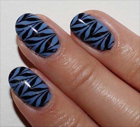 unha azul da moda