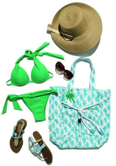 para usar na praia e piscina