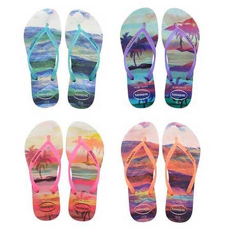 sandálias com estampas