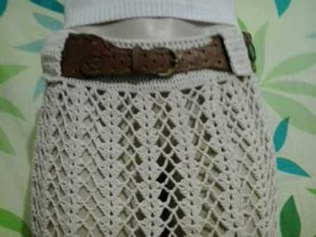 modelos de saias de croche