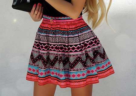 tendências de mini saia