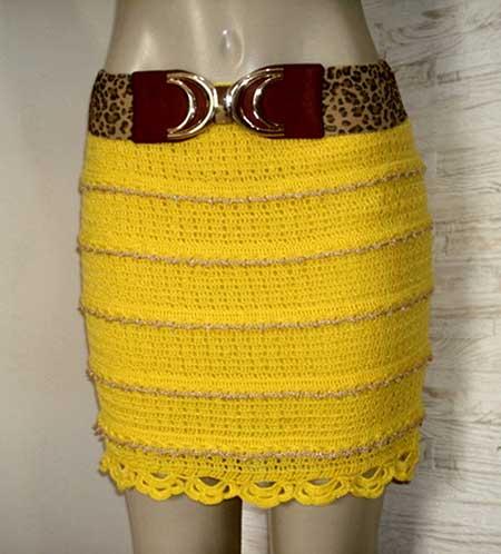 imagens de saias de croche