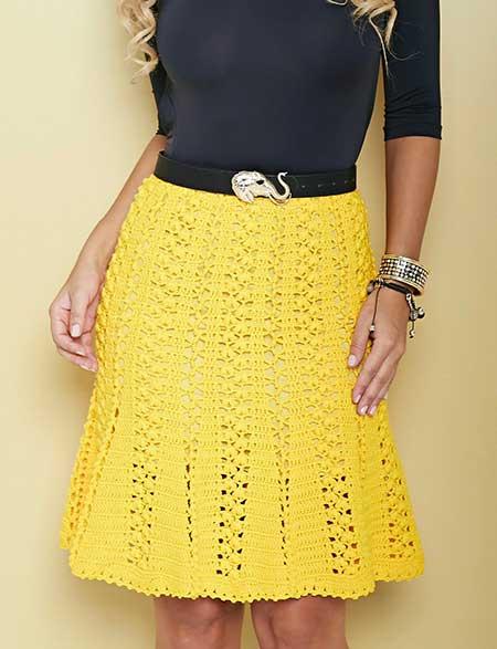 tendências de saias de croche
