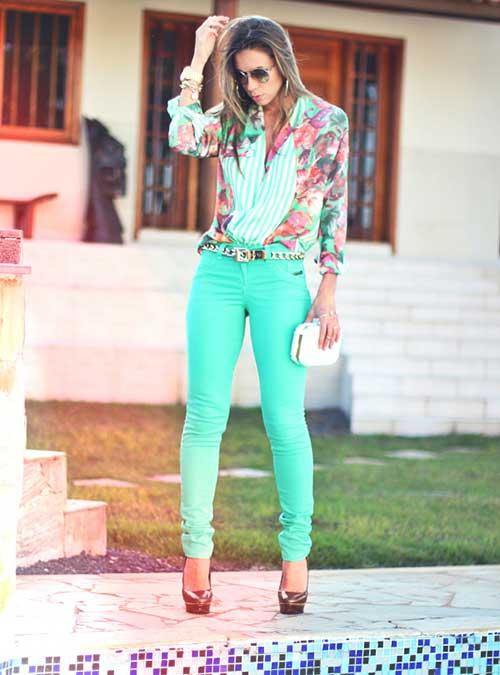 looks femininos com calça verde