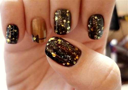 imagens de unhas com glitter
