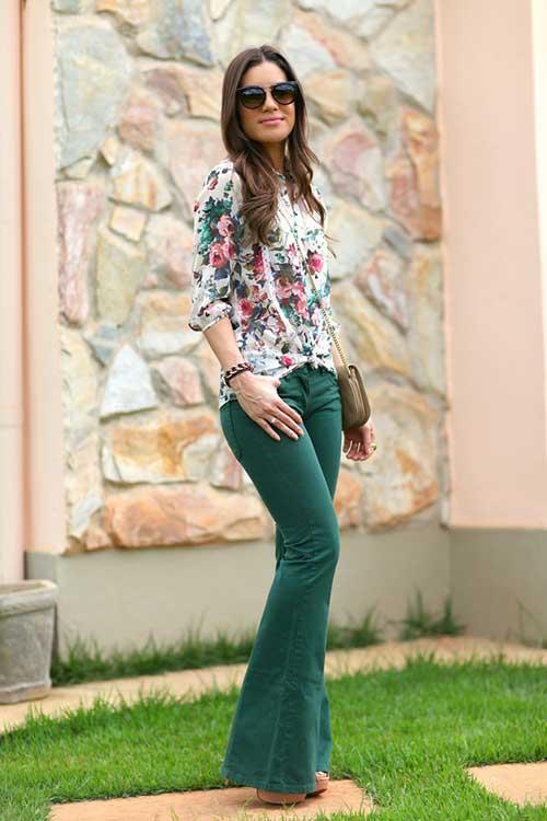 como usar calças verdes