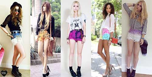 modelos de shorts coloridos