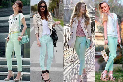 fotos de calças verdes